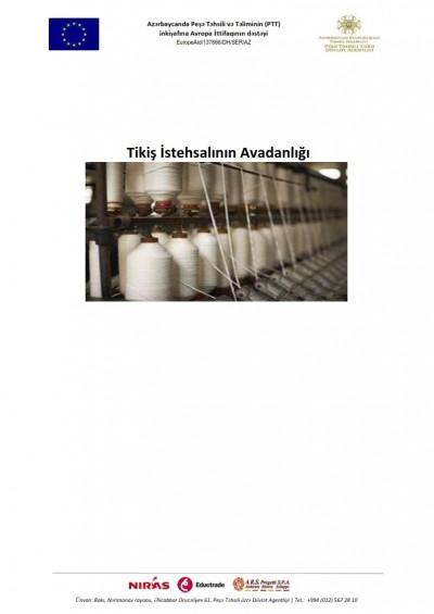 Tikiş istehsalının avadanlığı